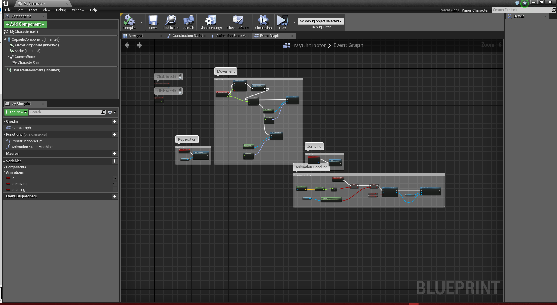 UE4 Character Blueprint